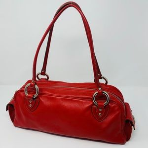 Marc Jacobs Leather Shoulder Bag Vermillion Red